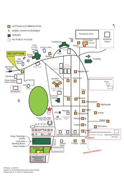 Fairbridge Village Visitor Site Map_2016 snall
